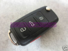VW Volkswagon 4 Button Flip Laser Key Keyless Entry Remote Key Fob Transmitter