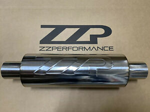 "ZZPerformance 2.5"" Resonator 5"" round muffler 14"" body 20"" long 12866"
