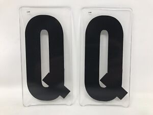 2 VTG GEMINI MARQUEE SIGN DISPLAY LETTER 6'' IN ''Q'' MOVIE THEATER PLASTIC