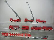 ae689-1 # 7x WIKING H0 modelos de bomberos,Carro con adrales,COCHE BOMBEROS etc.