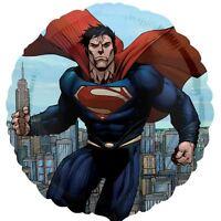 "Superman 17"" Round Foil Balloon - DC Superhero Birthday Party Decorations"
