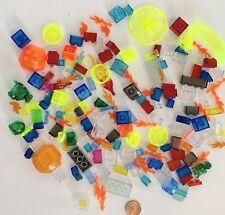 Mixed Lot of 75 TRANSPARENT BLOCKS FLAMES JEWELS SLOPES DOMES Various Colors