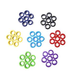 100pcs Hole 5mm Metal Mixed Color Eyelets For Shoes Belt Cap Bag Clothes DIY
