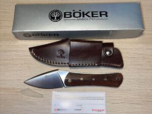 "Boker Arbolito Farkas Nomad Knife Fixed 3"" N695 Plain Blade, Guayacan Handle"
