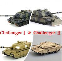 Easy Model 1/72 British ChallengerⅠ& Ⅱ Tank Plastic Model All of easy model