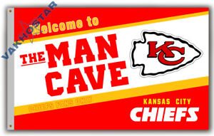 Kansas City Chiefs Men Cave football team Memorable flag 90x150cm 3x5ft banner