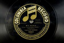 Inez Barbour - Jazz Columbia 78 RPM - My Hero / For You, Bright Eyes A19