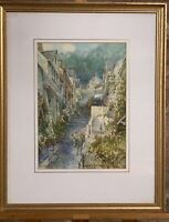 Beautiful Original Watercolour of Clovelly by the artist, Walter Henry Sweet