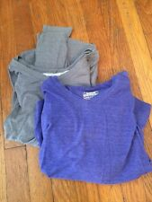 Under Armour Lot Of Two Light Long sleeve Hoodies Purple And Grey Small