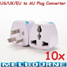10x Universal Travel Adapter International UK USA EU to AU Australian Power Plug 10 Pcs
