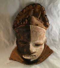 Antique Vintage Carved African Tribal Mask Bewitched Sickness Pende Mbangu Congo