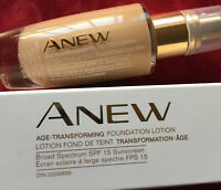 Avon Anew Age-Transforming  Foundation LOTION LIGHT BEIGE SPF 15 NIB RETIRED