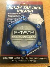 E-Tech Car Windscreen Metal Alloy Tax Disc & Parking Permit Holder - BLUE - NEW