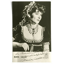 Maria Callas is Tosca. Beautiful signed photo