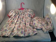 Petit Ami Flower Dress 2 Piece 12 M Baby Girl  Box L