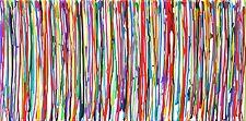 bunte Acryl Kunst auf Leinwand abstrakt Bild GEMÄLDE Silberstreif