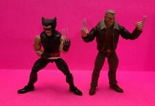 Old Man Logan and Patch Wolverine loose action Figures, Marvel Legends.