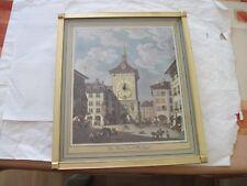 """""""La tour  de l' Horloge"""" print with suisse clock made by Bulova"""