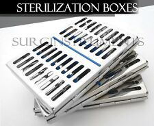 "6 Sterilization Cassettes 7"" X 5"" Surgical Medical Dental Instruments"