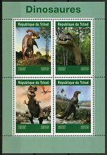 Chad 2019 MNH Dinosaurs T-Rex 4v M/S Dinosaur Prehistoric Animals Stamps