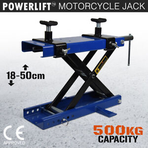 NEW Motorcycle Scissor Jack 500KG Bike Lift Quad Stand Motorbike Hoist 1/2 PRICE