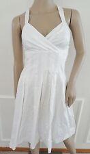 Nwt Calvin Klein Cocktail Pleated Fit & Flare Dress Sz 0P Petite White $134