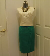 Vintage Mid Century Custom Made Silk Skirt & Beaded Top sz 6 - 8 Stunning
