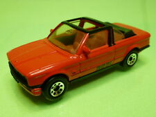 MATCHBOX BMW E30 323I BAUER CABRIOLET CONVERTIBLE - RED 1:58