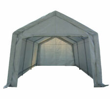 Portable Garage Carport Shelter Car Port Canopy 3m x 6m Galvanised Frame White,