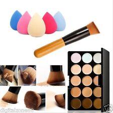 Maquillaje Contorno Crema Facial Corrector Paleta+Esponja+Brocha Para Polvo @#