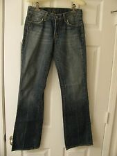 """7 For All Mankind Stretched Womens Jeans """"Dojo"""" Sz 27 Wide Flare"""