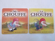 Beer Bar Coaster ~<>~ Achouffe Chouffe McChouffe Biere Brune D'Ardenne ~ BELGIUM