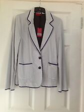 Blue and white stripe Vivien Caron jacket size