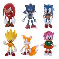 6 Pcs Sonic Classic The Hedgehog Action Figure Model Kids Doll Cake Topper Pvc-