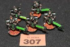 Juegos taller Warhammer 40,000 Necron Inmortales X5 bien Pintados Necrones Brigada del Ejército