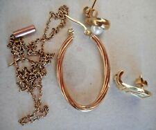 Approx. 5 grams of scrap 9ct gold Odd Earrings & Chain