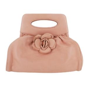 CHANEL | Pink Camellia Frame Clutch