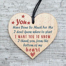 Handmade Wooden Heart Gift Teacher Mentor Friend Childminder Thank You Gifts 015