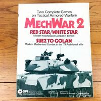 SPI Boxed Wargame MechWar 2 - Suez to Golan & Red Star/White Star UNPUNCHED VG+