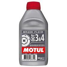 Motul DOT 3&4 Motorcycle Brake Fluid Long Life Fully Synthetic 500ml 0.5L