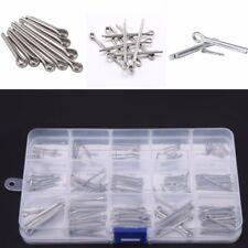 150x 15Kinds Stainless Steel Split Cotter Pins Assortment Kit M1 M1.5 M2 M2.5 M3