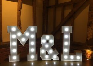 Beautiful Light Up 4ft LED Light Up Letters Wedding And Party Decor HIRE ONLY