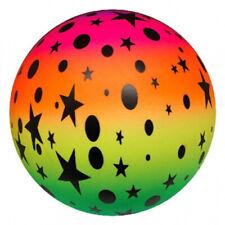 "Rainbow Ball 10"" Star Football Kids Outdoor Toy Garden Game - Pocket Money Toy"