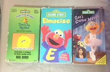 Sesame Street Don't Cry, Big Bird VHS Elmocize VHS & Zoe's Dance Moves VHS