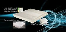 15cm thickness, 7-Zone 100%25 Natural Latex Mattress + 2x Latex Pillows.