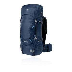 Jack Wolfskin Unisex Highland Trail 50L Backpack Blue Sports Outdoors Reflective