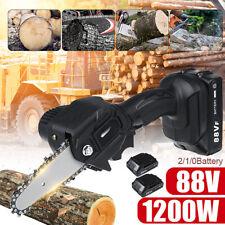 88V 800W Elettrosega Elettrico Sega Motoseghe a Batteria con 1/2Pz Batteria