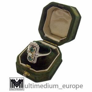 Seltene antike Art Deco Ringetui Schmuck Schatulle Schachtel Box 🌺🌺🌺🌺🌺