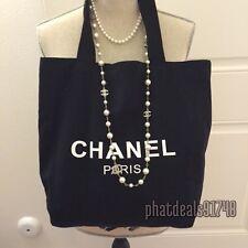 Chanel beauty black canvas tote VIP gift bag