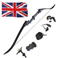 50lbs Archery Recurve Takedown Bow Set 57'' Hunting Black Riser Limbs Kits UKZL